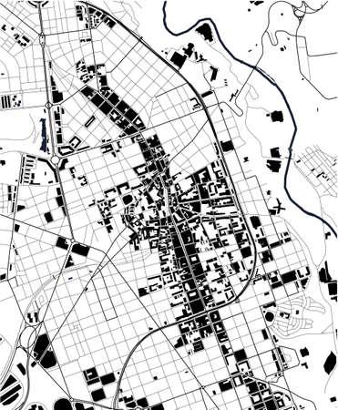 map of the city of Sabadell, Spain Ilustração