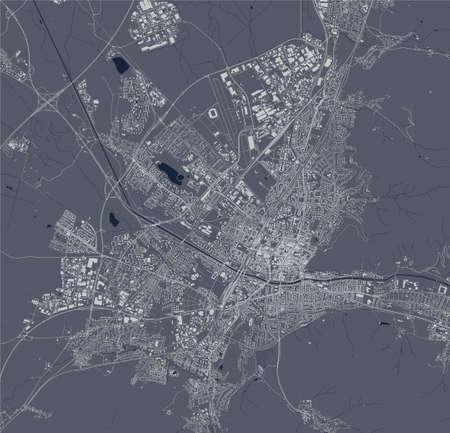 map of the city of Freiburg im Breisgau, Germany Ilustração