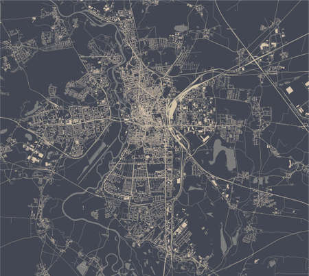 map of the city of of Halle, Germany