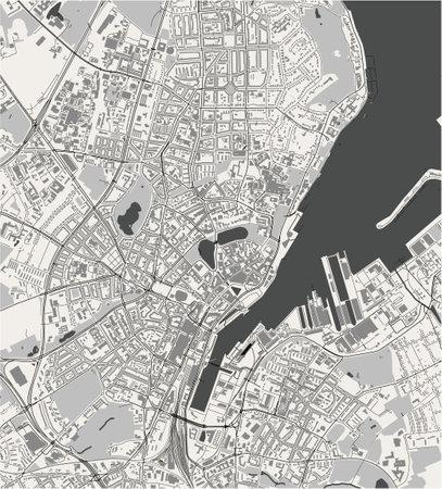 map of the city of of Kiel, Germany Ilustração