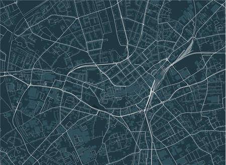 map of the city of Monchengladbach, Germany Ilustração