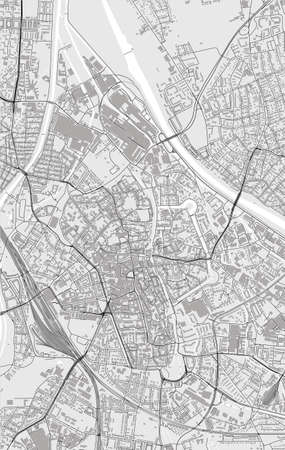 map of the city of Augsburg, Germany