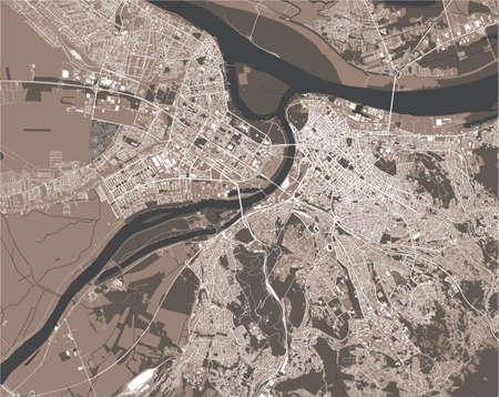 map of the city of Belgrade, Serbia Ilustração