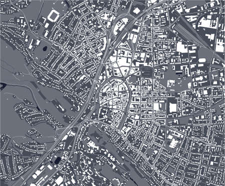 map of the city of Bielefeld, Germany
