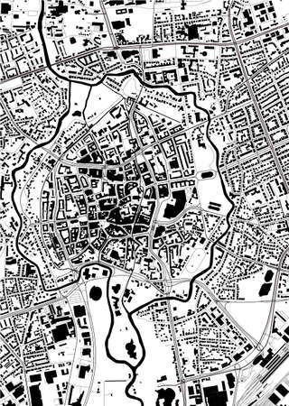 map of the city of Braunschweig, Germany