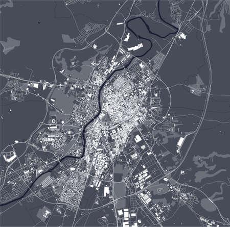 map of the city of Valladolid, Spain Ilustração