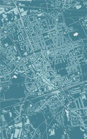 map of the city of Gelsenkirchen, Germany Ilustração