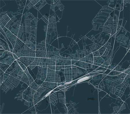 map of the city of Karlsruhe, Germany