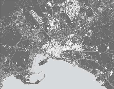 map of the city of Palma, Spain Ilustração
