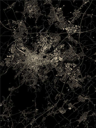vector map of the city of Aachen, Germany