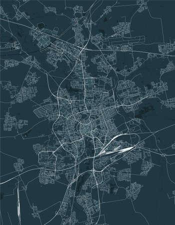 map of the city of of Braunschweig, Germany Ilustração