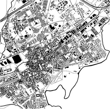 map of the city of Alcala de Henares, Spain Ilustração