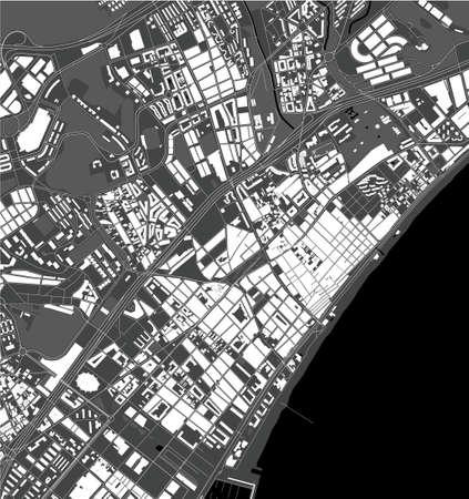 map of the city of Badalona, Spain