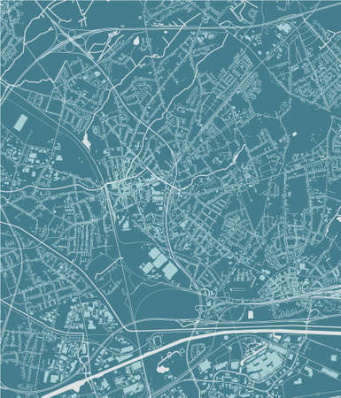 map of the city of Oberhausen, Germany