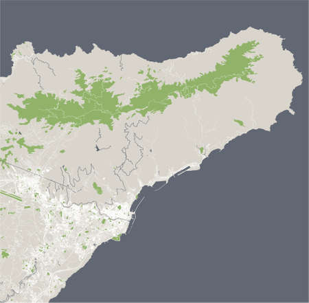 map of the city of Santa Cruz de Tenerife, Spain