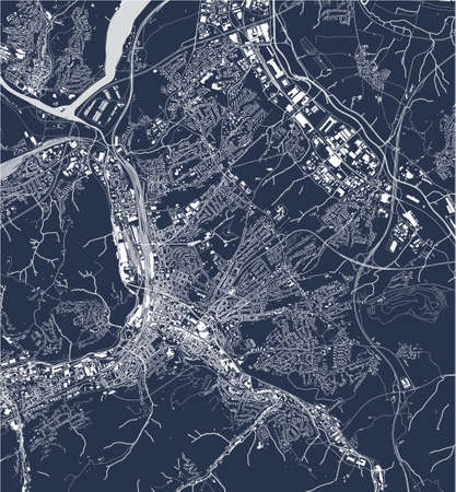 vector map of the city of Hagen, Germany