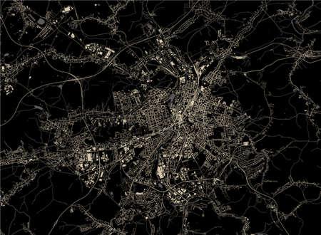 vector map of the city of Chemnitz, Germany Ilustração