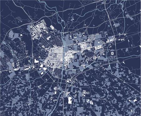 map of the city of Elche, Spain Ilustração