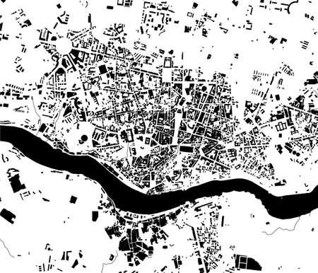 map of the city of Porto, Portugal Ilustração