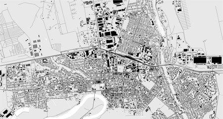 vector map of the city of Tiraspol, Moldova