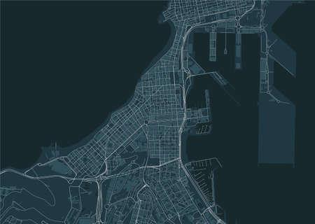 map of the city of Las Palmas de Gran Canaria, Spain