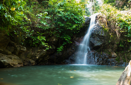 small waterfall in Thailand Stock Photo