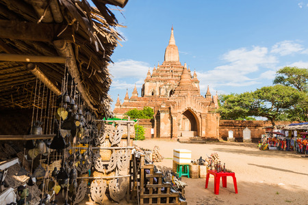Htilominlo temple is an ancient construction made by bricks, Bagan, Myanmar Stock Photo