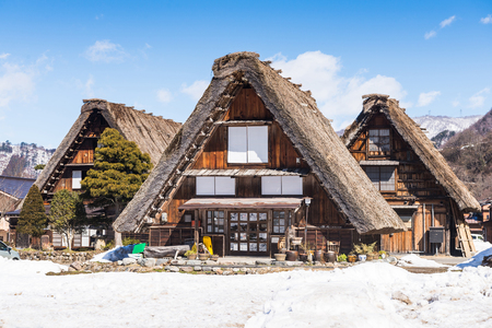 Shirakawa-go village in winter season, Japan