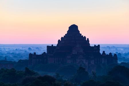 The Temples of Bagan sunrise time Bagan, Myanmar Archivio Fotografico