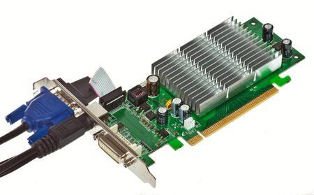 video card computer, isolated on white background photo