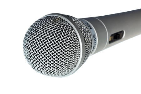 mc: microphone for voice and strengthen Stock Photo