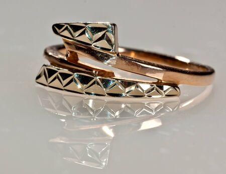 Golden ring of decoration for women and girls photo