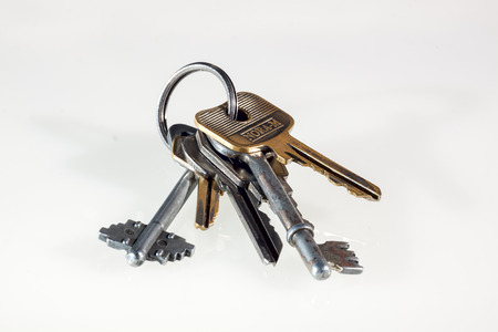 keychain: Keychain, ring, metallic, isolated, key, label,metal