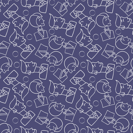 mixed family: vector seamless wallpaper with images of men and women