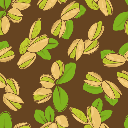 vector seamless wallpaper with a picture of pistachio