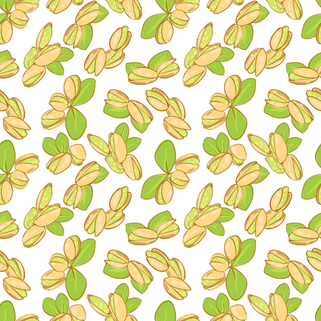 pistachio: vector seamless wallpaper with a picture of pistachio