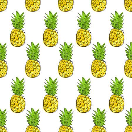 vytisknout bezešvé tapety s šťavnaté ananas