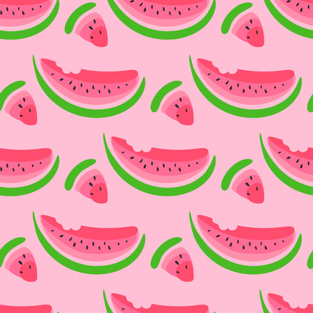 watermelon:  seamless wallpaper pattern with watermelon slices