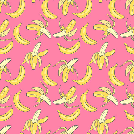 print seamless wallpaper with the image of ripe bananas