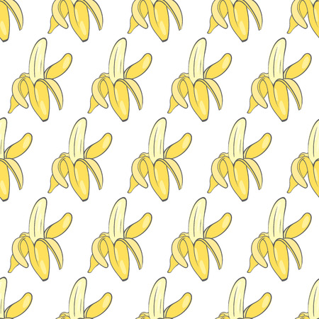 ripe: print seamless wallpaper with the image of ripe bananas