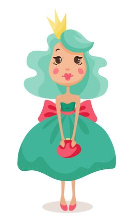 beautiful princesses in elegant dresses