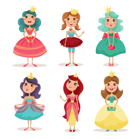 american stories: collection of beautiful princesses in elegant dresses