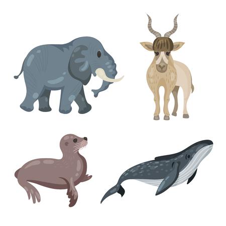 oso perezoso: una gran colección de animales en peligro de extinción, jirafa, pereza, cebra, gorila, rinoceronte, panda, elefante, antílope addax, camello, león marino, ballena jorobada, tortuga