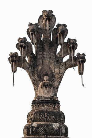 serpents: Isolate Buddha sculpture Stock Photo