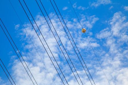 safty: Aerial marker balls and blue sky