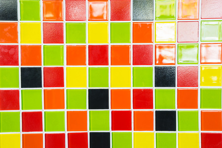 bathroom design: A Colorful tiles texture for background.