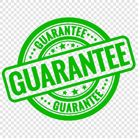 Vector guarantee stamp isolated on transparent background