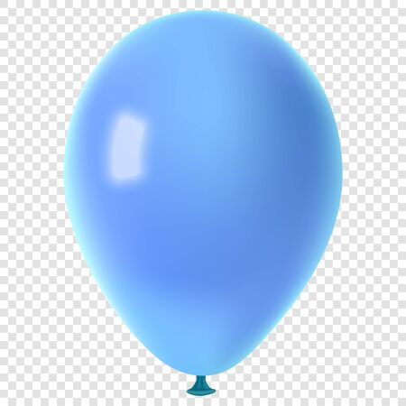 Realistic colorful vector balloon, isolated on transparent background.