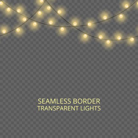 Icône de lumières de Noël. Banque d'images - 92245415
