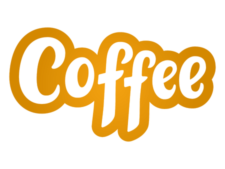 Best coffee hand sketched lettering poster, brush calligraphy. Drawn art sign. For logotype, badge, icon, card, postcard, logo, banner, tag. Vector illustration. Illustration